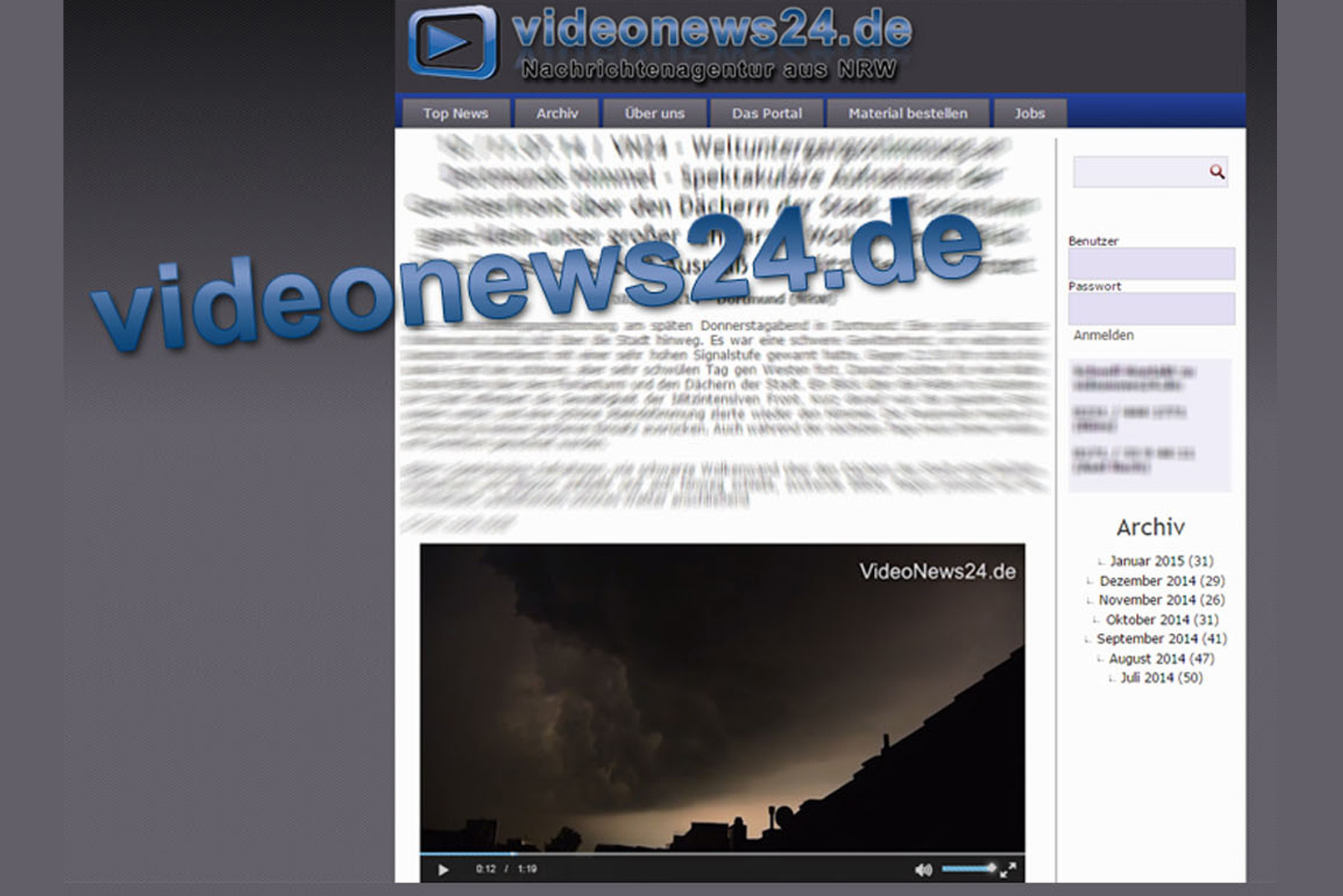Redaktionelle Betreuung von News-Plattformen und Content Management Systemen